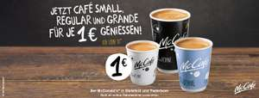 [Lokal Bielefeld und Paderborn] McDonalds Café Small, Regular, Grande alle für 1 Euro