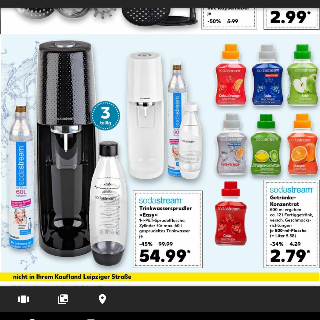 """[Kaufland] SodaStream Trinkwassersprudler """"Easy""""-Set für 54,99€"""