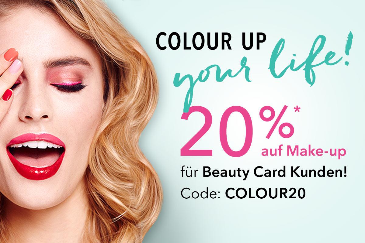Heute 20% auf Make Up bei Douglas ohne MBW für Beauty Card Kunden