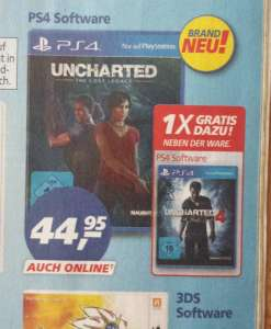 (Real Markt/Onlineshop) Uncharted: The Lost Legacy + Uncharted 4: A Thief's End mit Gutschein für 39,95€!
