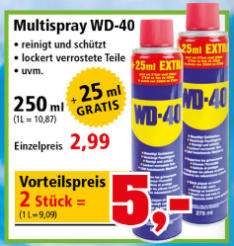 [Thomas Philipps ab 04.09.] 2 x WD-40 Multispray (2 x 275 ml-Flasche)