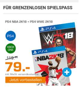 (Saturn.de) NBA 2k18 + WWE 2k18 Bundle Aktion PS4 + XBOX One