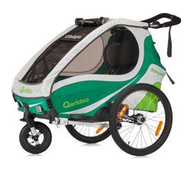 Qeridoo Kidgoo2 (2017) Kinder-Fahrradanhänger für 2 Kinder - alle Farben - [Plus]