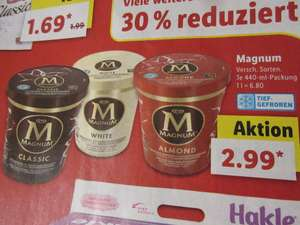 Lidl - Magnum Eis Becher Classic / White / Almond