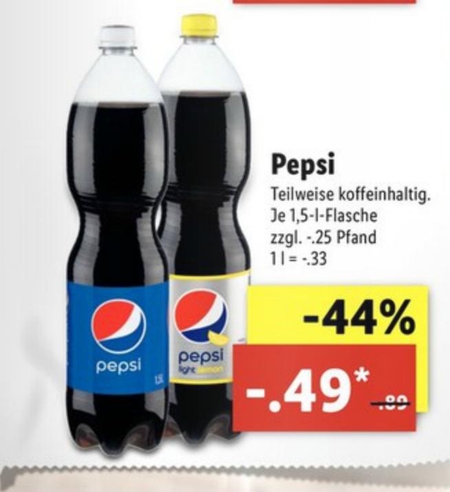 [LIDL ab 4.9] 7UP/Pepsi  je 1,5-l-Flasche (= Literpreis 0,33)