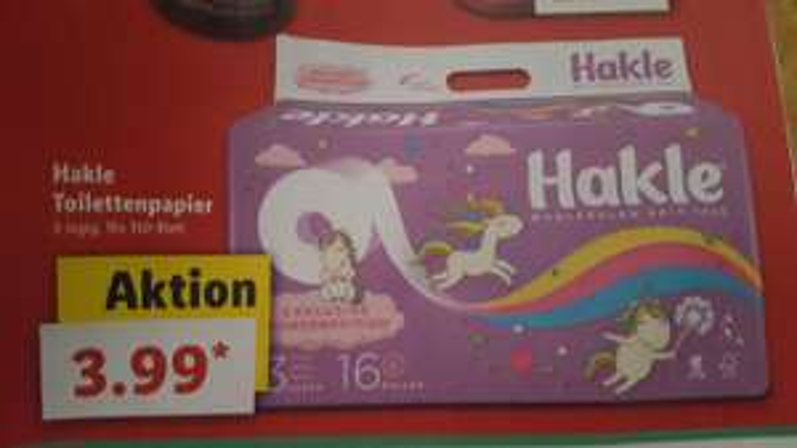 Hakle (EINHORN) Toilettenpapier 3 lagig 16x150 Blatt