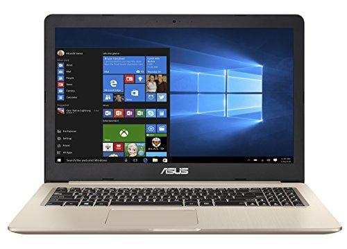 Asus VivoBook Pro 15 N580VD-DM039T 39,62 cm (15,6 Zoll mattes FHD) Notebook (Intel Core i7-7700, 16GB RAM, 512GB SSD, 1TB HDD, NVIDIA GeForce GTX1050, Win 10) gold