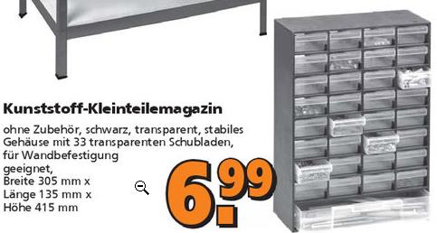 [GLOBUS] Kleinteilemagazin (BHT 305x415x135mm)