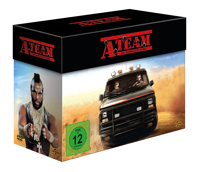 Das A-Team - Die komplette Serie (27 DVDs) für 32,97€ & Ein Käfig voller Helden - Komplettbox (26 DVDs) für 34,97€ [Amazon]