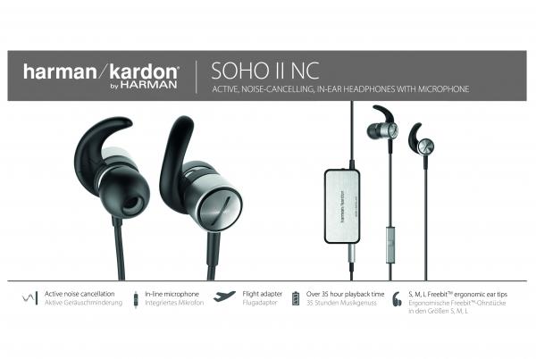harman/kardon Soho II NC In-Ear-Kopfhörer für 69,- durch Cashback [Eurowings]