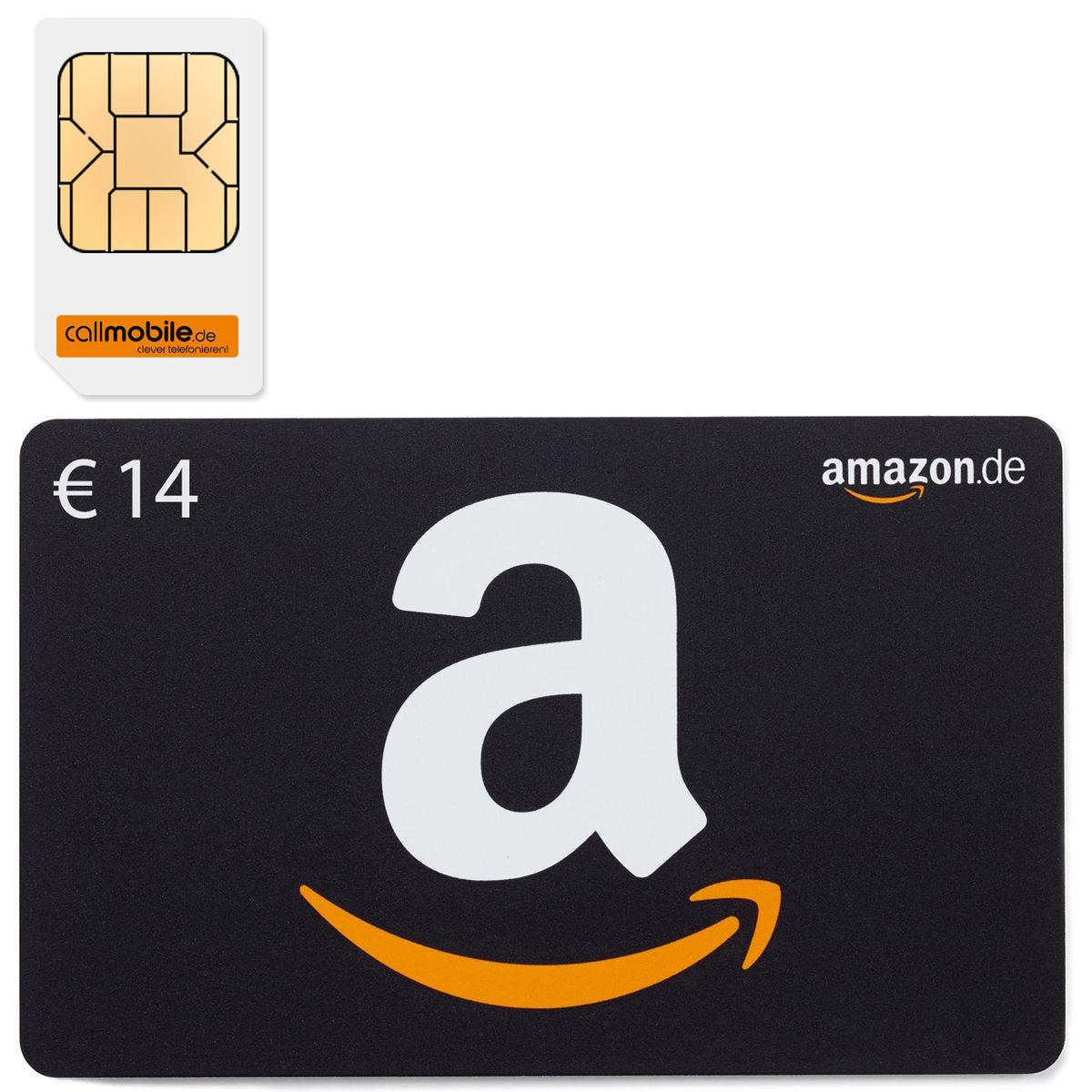 callmobile SIM + 14€ Amazon Gutschein für 2,95€