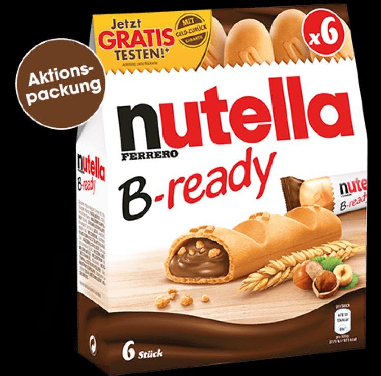 Nutella b-ready Geld-zurück GZG