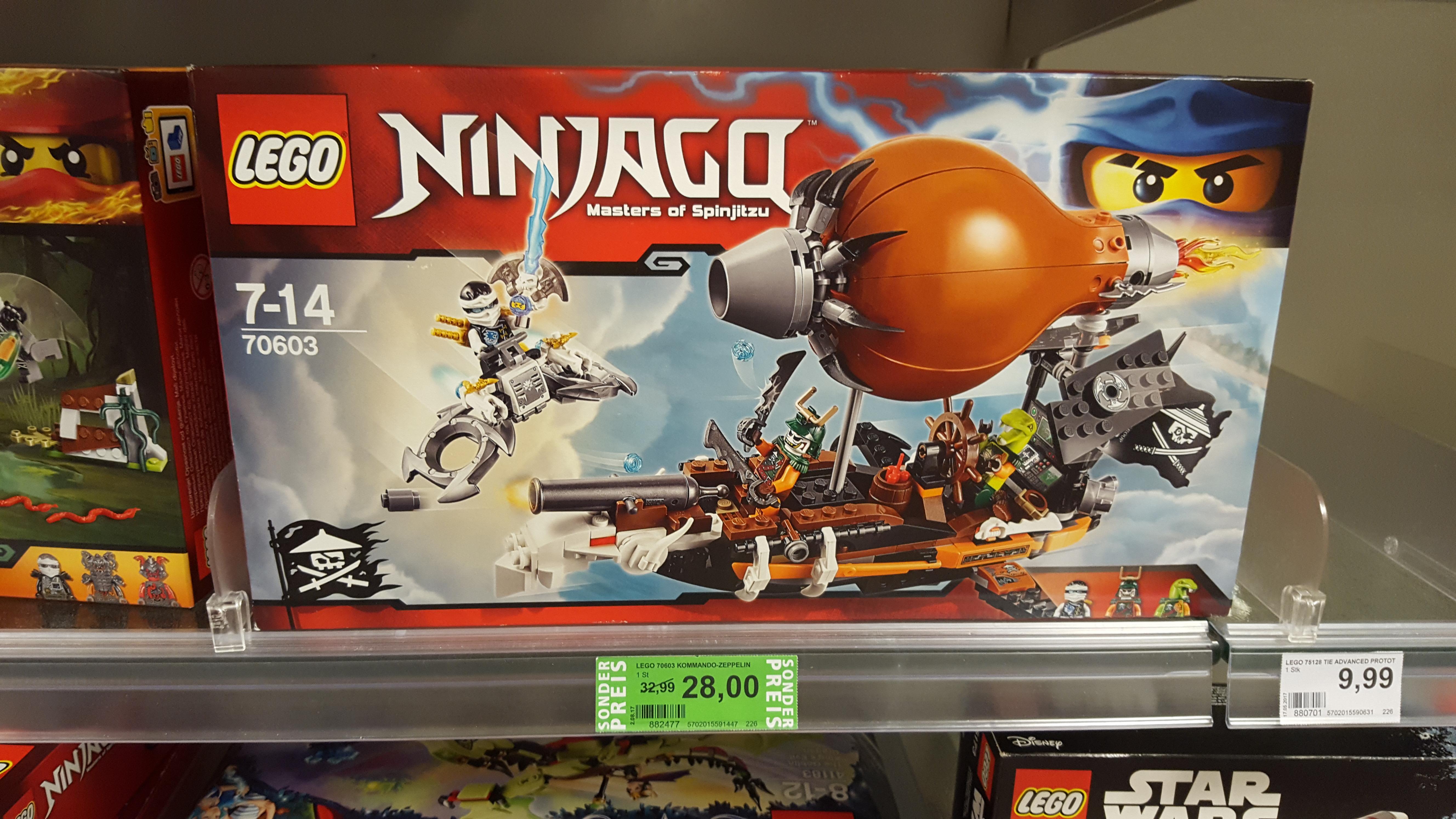 ca. 30% auf LEGO Ninjago bei Rossmann