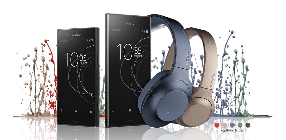 Zum Kauf eines Sony Xperia XZ1/ XZ1 compact Kopfhörer Sony WH900N oder WH800N dazu bekommen