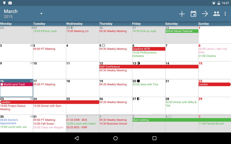 [Android] aCalendar+ Kalender & Tasks für 2,79€ statt 3,99€