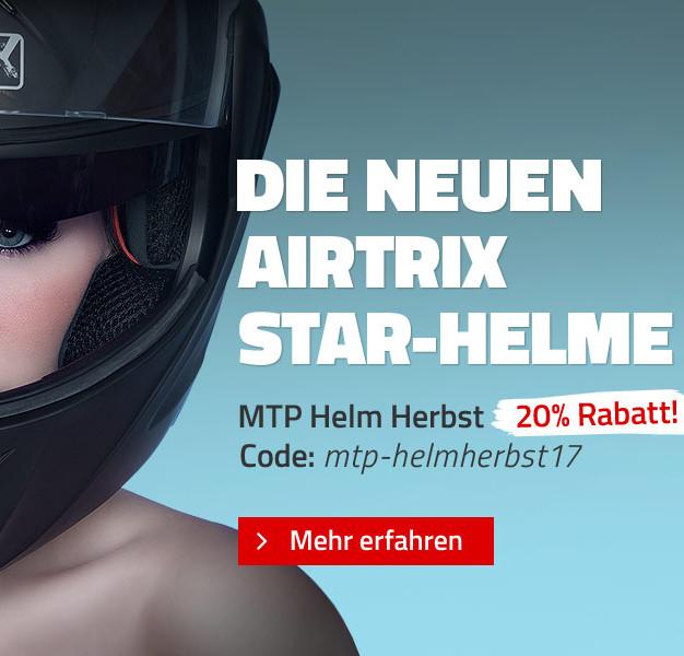 Helm Herbst Aktion mit 20 % auf alle Airtrix Motorrad Helme