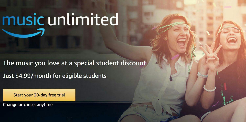 Amazon music unlimited für 4,99€/Monat [Studenten]