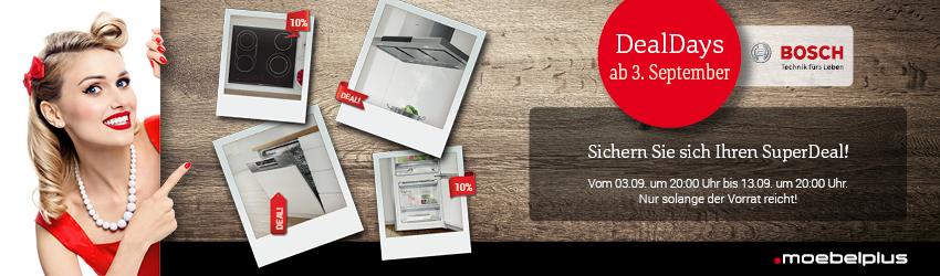 [moebelplus.de] DEALDAYS - EINIGE BOSCH Großgeräte unter idealo Bestpreis | Bosch KIF42AD40 | Bosch SME65N91EU