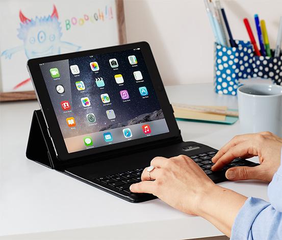 [Tchibo Dortmund] Universal-Tablet-Hülle mit integrierter Bluetooth Tastatur (iOS) aber Android funktioniert auch