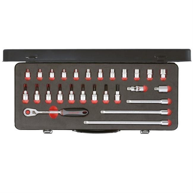 """Carolus 3/8"""" Steckschlüssel TORX Slim Sixty 26-tlg 6600.400 [Kfz-Werkzeug/ebay]"""