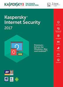 Kaspersky Internet Security 2017. 1 Jahr. 1 PC