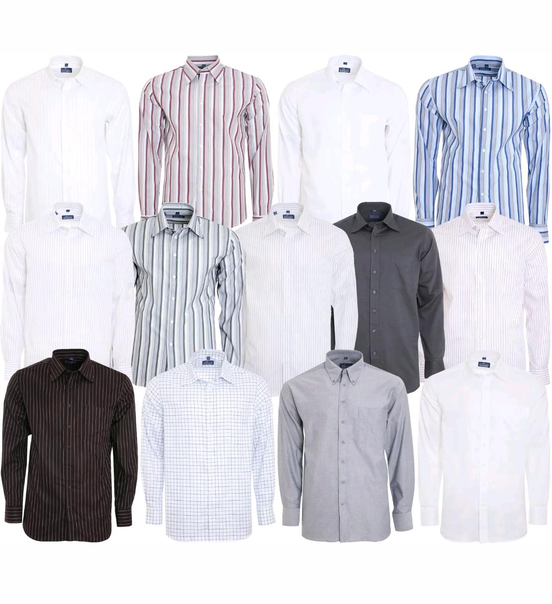 Derby of Sweden Shirt Herren Langarm-Hemd, Nadelstreifen-Hemd, Business-Hemd verschiedene Größen und 100% Baumwolle [eBay WoW]