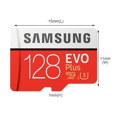 Samsung EVO Plus MicroSDXC 128GB - 100MB / s UHS-I (U3) @tomtop
