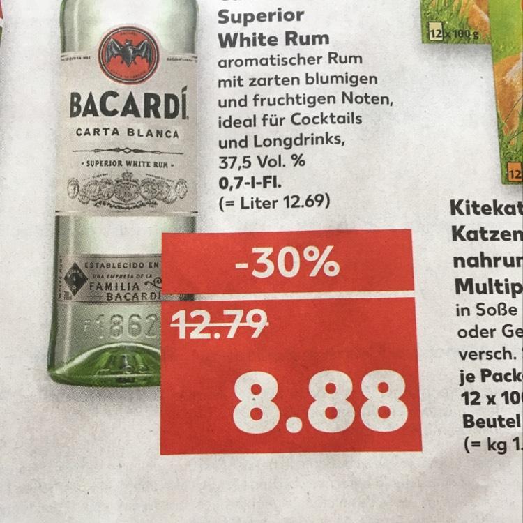 [Kaufland] Bacardi Weißer Rum nur 8,88 11.09-13.09