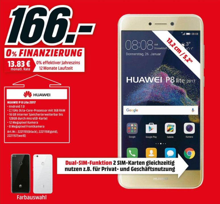 [Lokal] Media Markt Bornheim Huawei P8 Lite (2017) Neueröffnungs-Angebot ab 7.9. um 8 Uhr