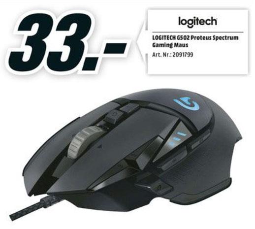 [Lokal] Media Markt Bornheim Logitech G502 Proteus Spectrum Neueröffnungs-Angebot ab 7.9. um 8 Uhr