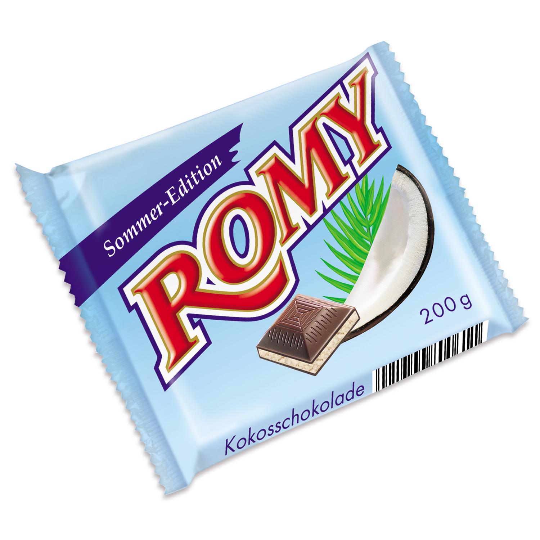 """[RÜSSELSHEIM] Romy Kokos-Schoki """"Sommer-Edition"""" 200g für 0,49€"""