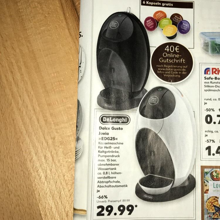 [Kaufland] ab 07.09. Delonghi Dolce Gusto Jovia für 30€ + 40€ Gutschein für den online Shop