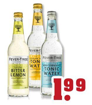 Fever Tree Indian Tonic und Mediterranean Tonic 0,5l für €1,99 bei Trinkgut