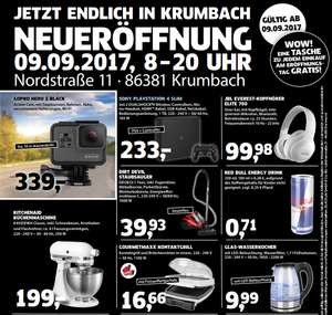 [Lokal Black.de 86381 Krumbach] GOPRO HERO 5 BLACK für 339 € ; SONY PLAYSTATION 4 SLIM für 233 € ; Kitchenaid für 199 €