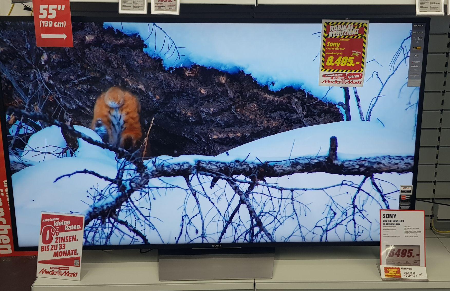 SONY KD85XD8505 LED UHD 4K Smart TV Media Markt Braunschweig