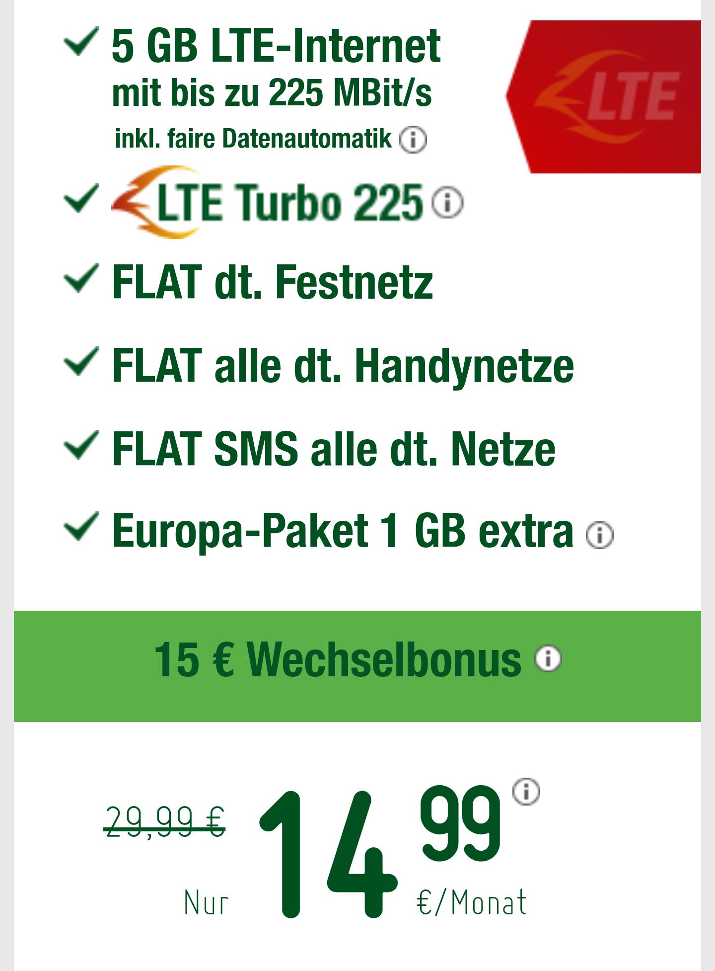 Smartmobil LTE Pro (5GB LTE 225mb +Allnetflat)