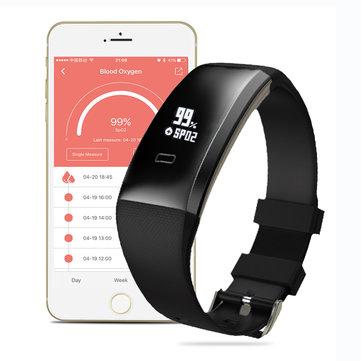 Banggood Activity Tracker WP101 OLED Blutdruck SpO₂ Herzfrequenz Gesundheit Monitor Sport Tracker Smart Armband Android IOS für 11,28 Euro
