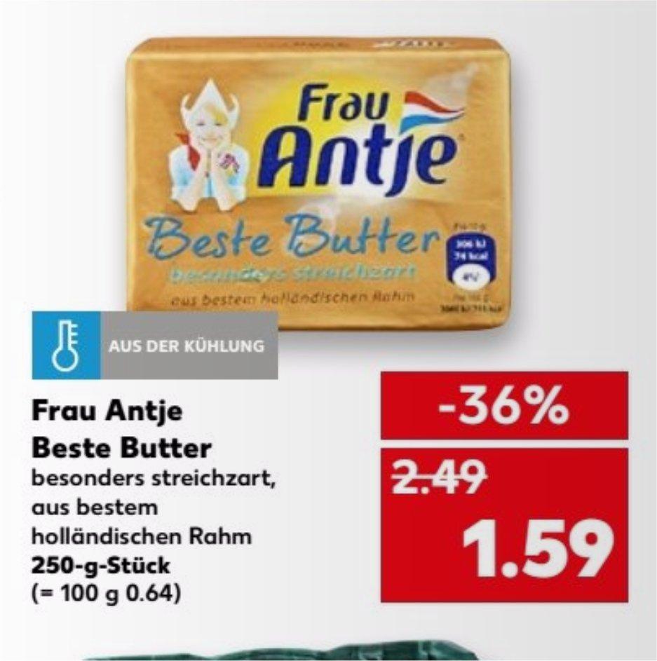 [KAUFLAND] Frau Antje Beste Butter 250g für 1,59€ (14.09.-20.09.2017)