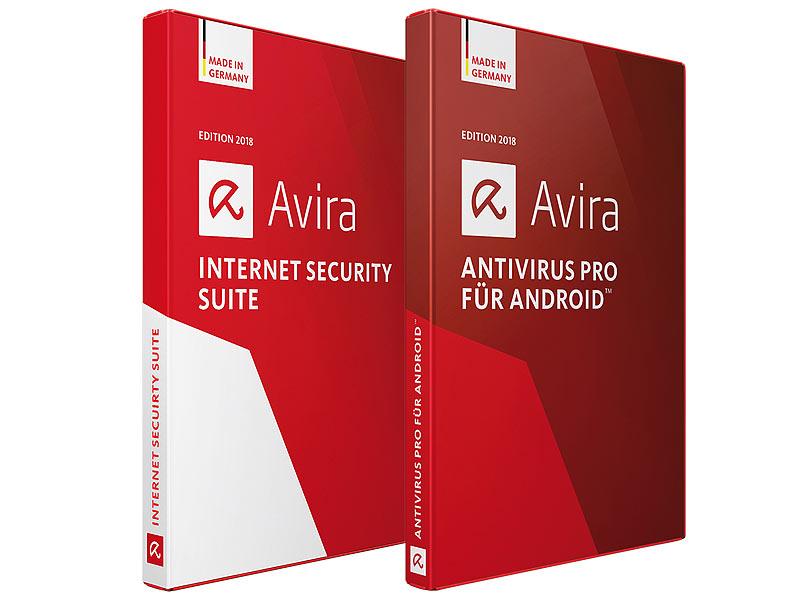 [Pearl.de] Jahreslizenz Avira Internet Security Suite 2018 und Antivirus Pro 2018 für Androi