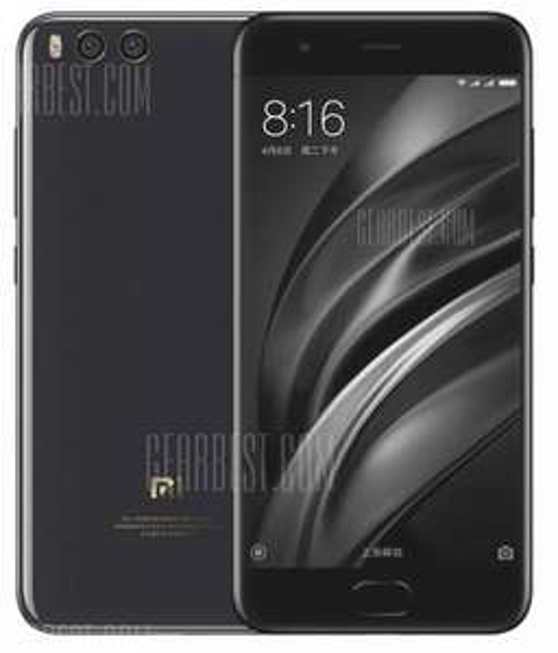 """Xiaomi Mi6, 5,15"""" FHD, SD 835, 6/128GB in schwarz ohne Band 20"""