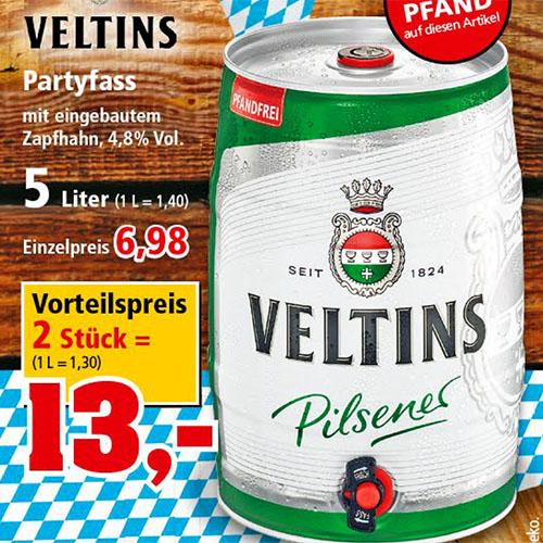 Thomas Philipps (ab 11.9.)  2 x 5 Liter Veltins Partyfass für nur 13€
