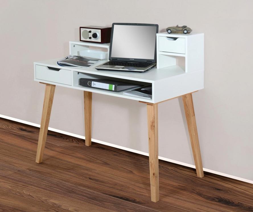 Retro Sekretär mit 2 Schubladen und Ablagefach (105/99/55 cm) bei XXXL