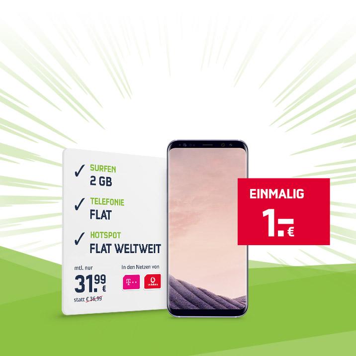 [Mobilcom-Debitel] Comfort Allnet Tarif inkl S8+ 1€ zuzahlung Mtl 31,99 [Online]
