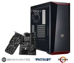 Gaming PC [konfigurierbar] (Ryzen 5 1600, 16GB RAM, 240GB SSD, Gainward Geforce 1060 / 6GB, MSI B350 PC Mate, be quiet! Pure Power 10 400W) für 829€ [Dubaro]