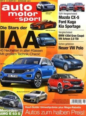 1 Jahr auto motor und sport für 107,90€ mit 100€ BestChoice-Gutschein (UPDATE: Für 112,30€ mit 100€ Verrechnungsscheck bei ABOMIX)