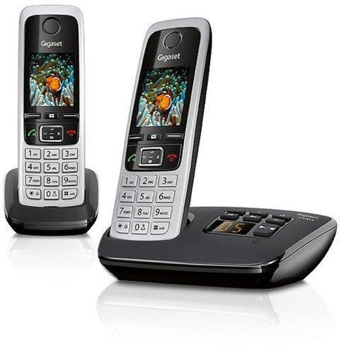 [Amazon] Gigaset C430A Duo Telefon / Schnurlostelefon / 2 Mobilteile - TFT - Farbdisplay / Dect - Telefon - mit Anrufbeantworter / Freisprechfunktion / Analog Telefon, schwarz/platin