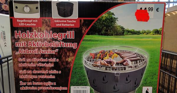 [Wahrscheinlich bundesweit bei Woolworth] Aktivbelüfteter Holzkohlegrill Lotus-Grill-Blender inkl. Tasche und Batterien für 14,99€