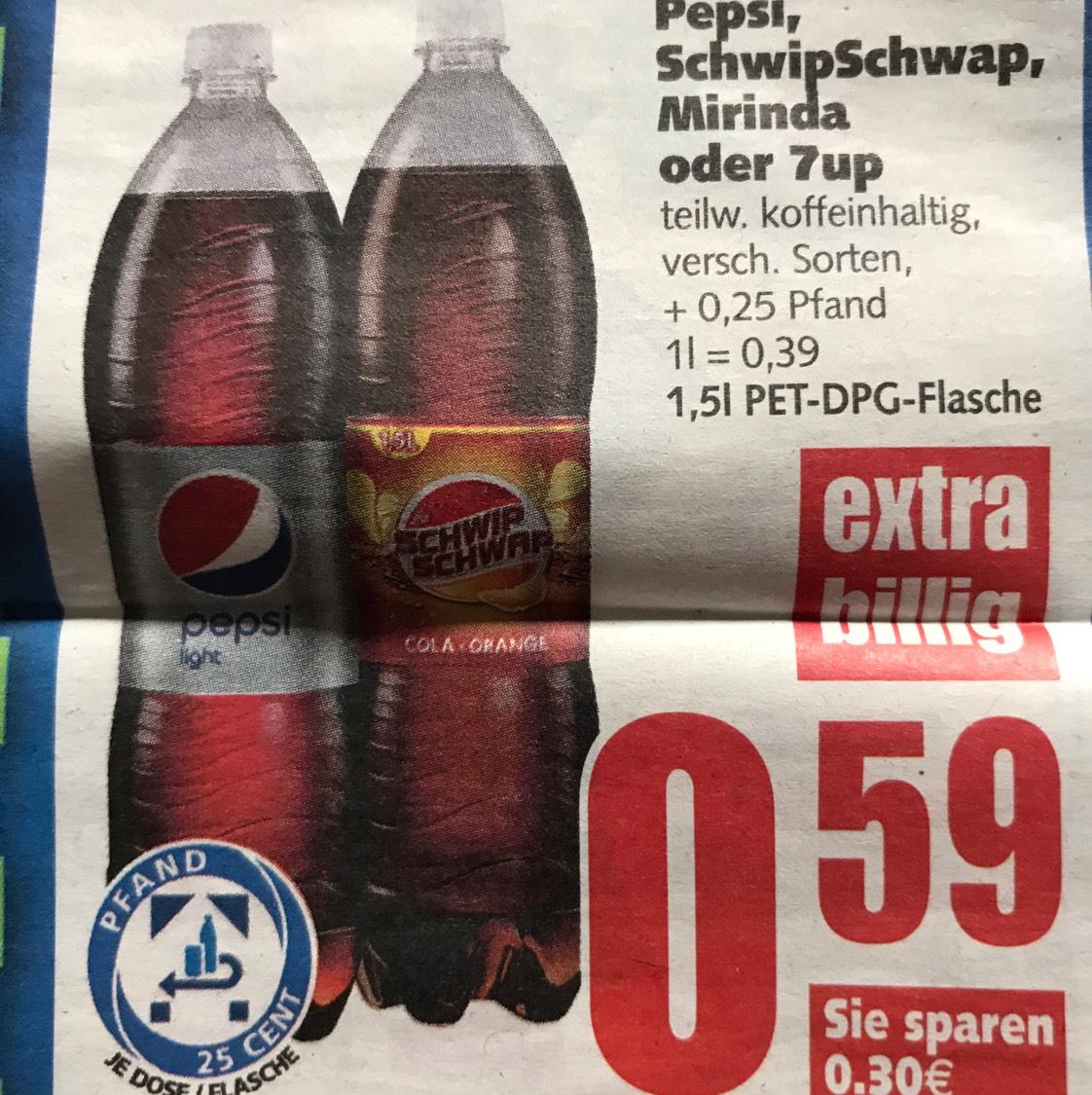 [EDEKA] Pepsi 1,5l PET 0,295 pro Flasche
