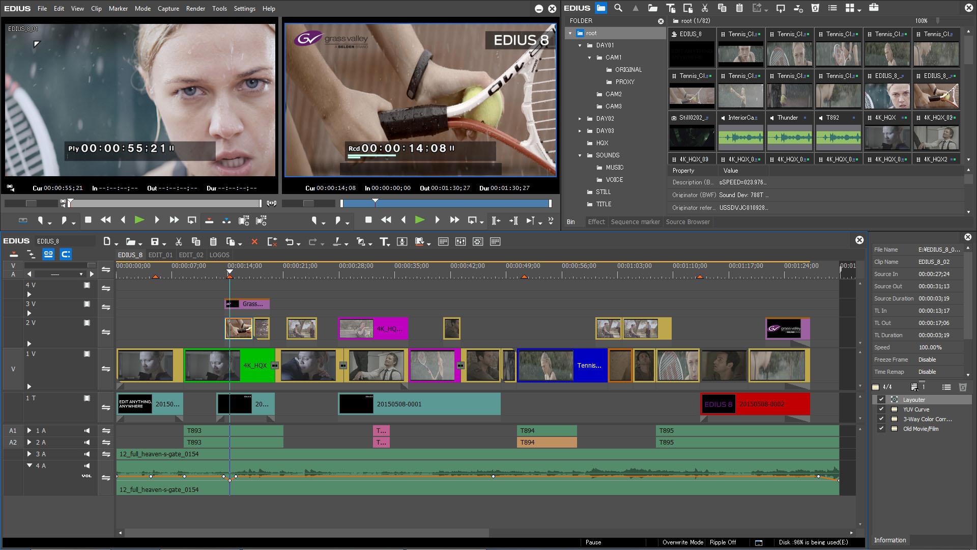 Profi-Videoschnitt-Software EDIUS 8 kaufen, Version 9 GRATIS erhalten