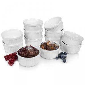 Sänger Porzellan Ofenformen für Pasteten, Souffle, Muffins etc. 12 teilig Ø 10cm